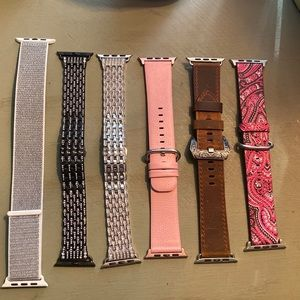 Apple Watch band lot 42mm 44mm Leather & Metal